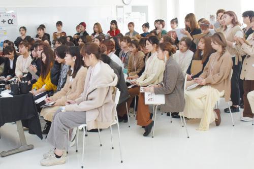 現役メイクアップアーティストによる特別授業 大村美容ファッション専門学校